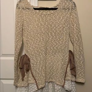 Champagne gold sweater